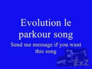 Evolution parkour song